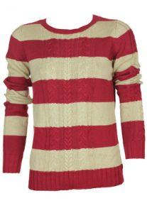 pulover-dama-rosu-cu-dungi