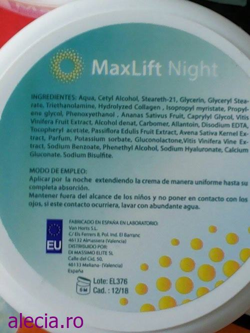 Max Lift Foto Ingrediente