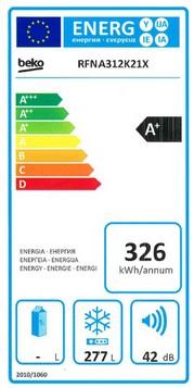 Beko RFNA312K21X clasa energetica