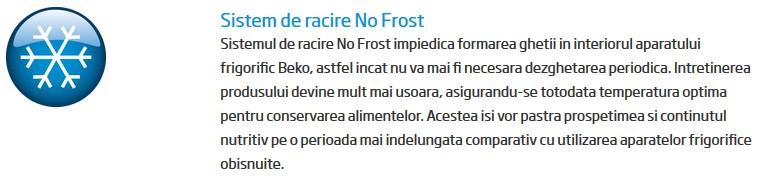 Beko RFNA312K21X cu nofrost